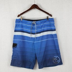 Ezekiel Striped blue board shorts S- 36